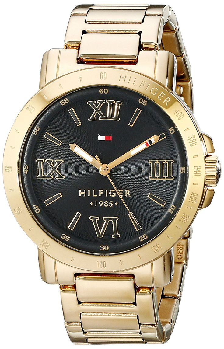 Tommy Hilfiger Women's 1781471 Gold-Plated Watch >>> Click image for more details.