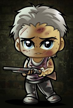 how to draw chibi carol from the walking dead