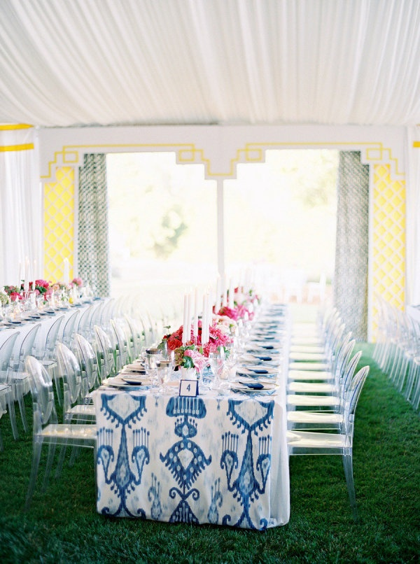Bold pattern with ghost chairs