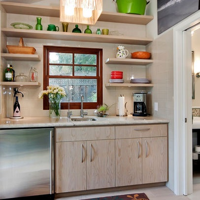 Open shelving around sink house ideas one can dream for 7x7 kitchen design