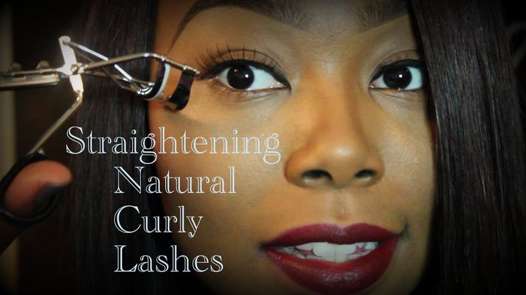 How to Straighten your Curly Lashes!!! THEN Applying False Lashes!!!