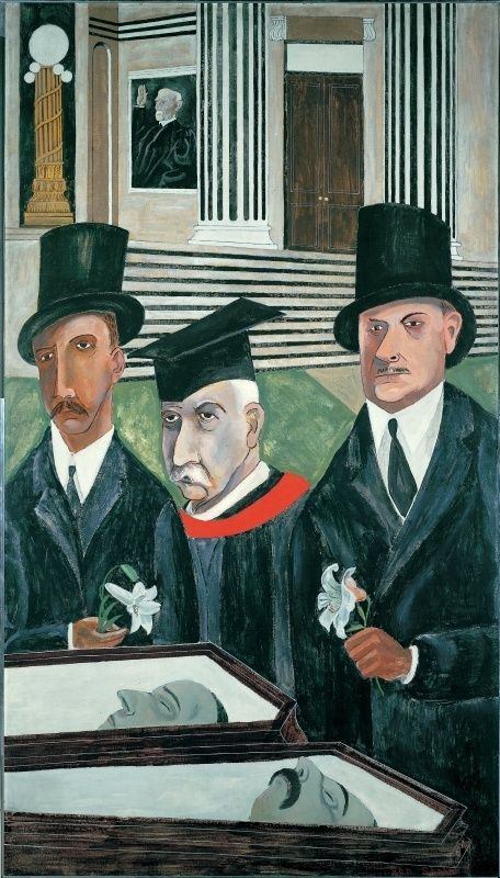 One of Ben Shahn's most famous paintings: 'The Passion of Sacco and Venzetti', 1931-32