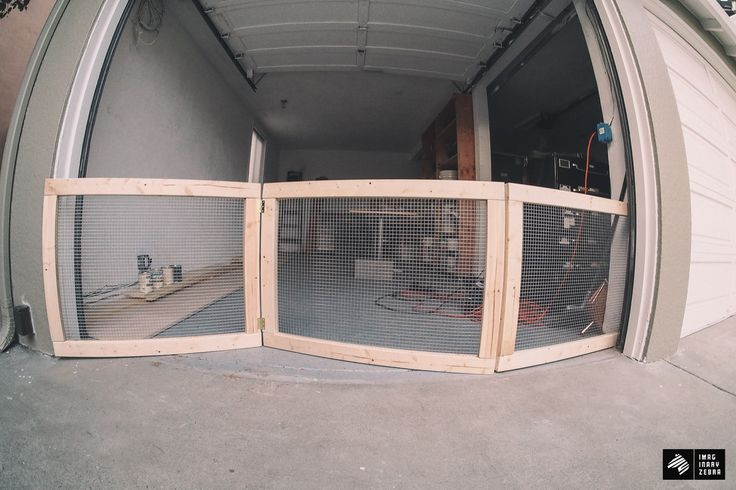 My Man-Cave Part 1—DIY Dog Fence for Garage Doors — Imaginary Zebra™ // IZ™