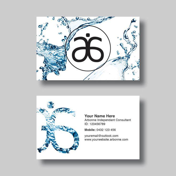 Arbonne Business Card Water Digital Design
