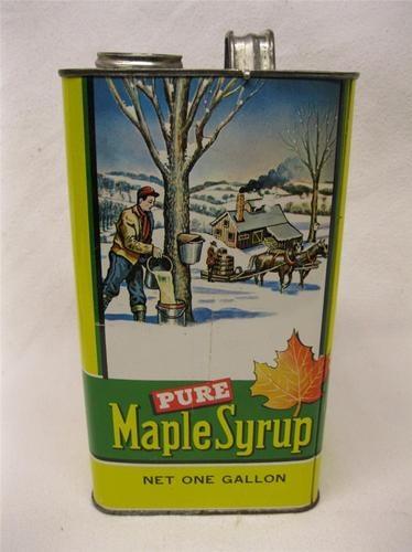 Antique Vintage Vermont Maple Syrup Tin Can Gallon | eBay