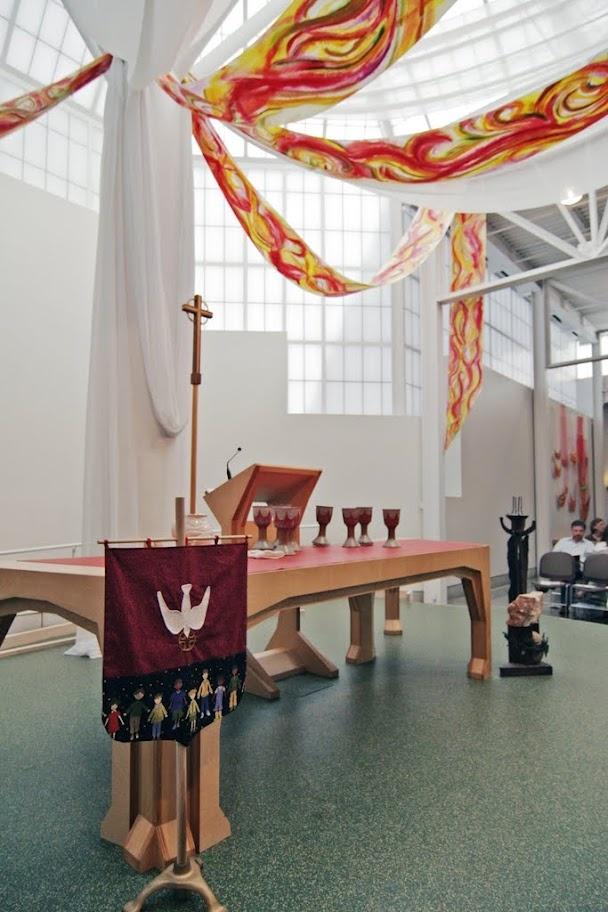 pentecost sanctuary decorations