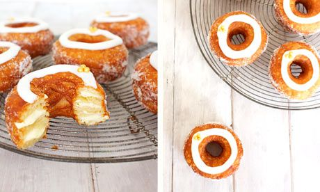 DIY Cronuts: Edd Kimber's lemon and vanilla fauxnuts. Photograph: Edd Kimber