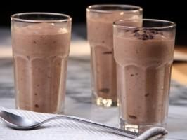 "Banana Chocolate Almond Milk-less Milkshake (Girls' Night) - Tia Mowry, ""Tia Mowry at Home"" on the Cooking Channel."