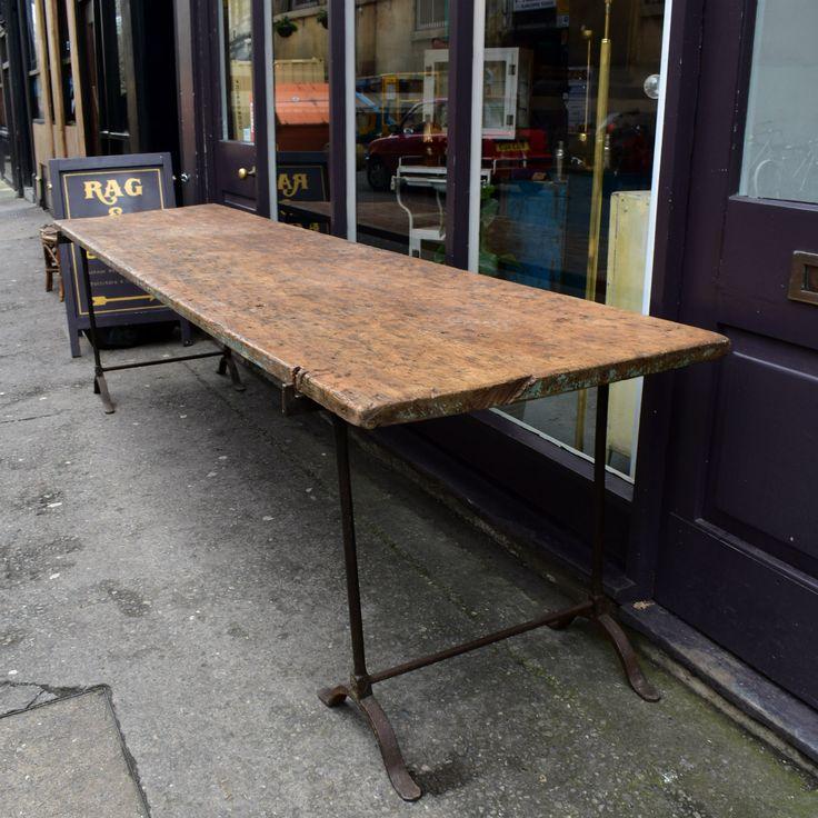 Enormous Single Plank Textile Mill Table