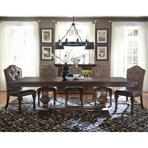 Pedestal Dining Table Tables Formal Rooms Sets Liberty Furniture Lucca Room Outlet Store
