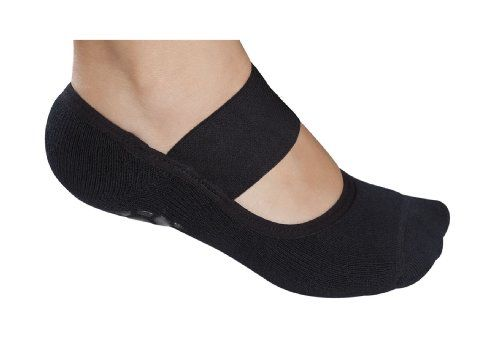 Lupo Solid Yoga-Pilates Socks with Grippers, Black, One Size Lupo http://www.amazon.com/dp/B00ESEE1OA/ref=cm_sw_r_pi_dp_c8kuvb03N9WCR