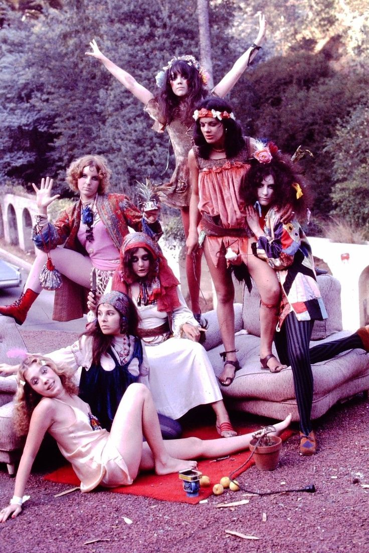 Pamela Des Barres and the GTO groupie band (Girls Together Outrageously)