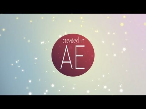 Make a Field of Particles (No Plugins Needed) | After Effects Tutorial - YouTube