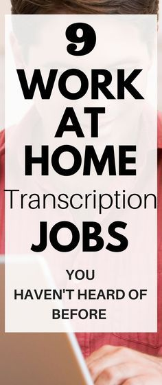 Here's 9 legitimate work at home transcription jobs that can help you make money from home. Click through to find out how you can become a transcriber and make a great income from home!