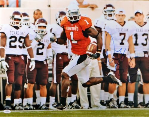 Dez Bryant Autographed 16x20 Oklahoma State Cowboys Photo - JSA Witness - Sports Memorabilia