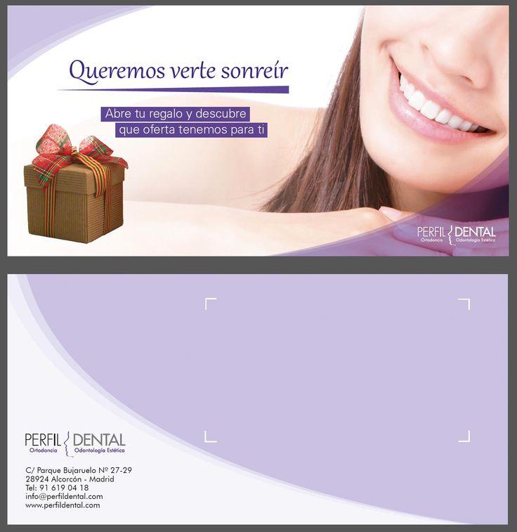 Tarjeta para la clinica Perfil Dental