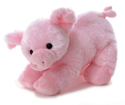 """12"""" PIGGOLO the pink stuffed pig is part of the Flopsie barnyard collection"""