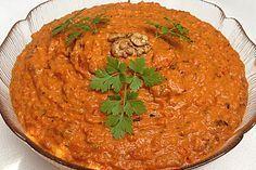 Muhammara - syrische Vorspeise, ein sehr leckeres Rezept aus der Kategorie Kalt. Bewertungen: 20. Durchschnitt: Ø 4,0.