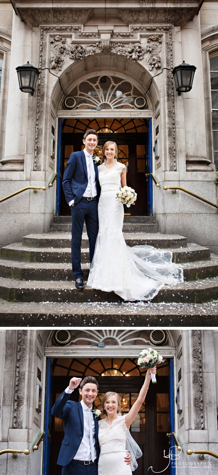 Wedding Portraits on the steps of Chelsea Register Office