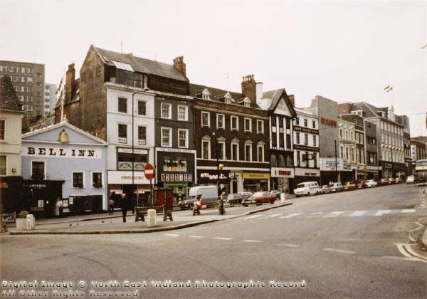 Angel Row, 1977 Oh The Bell! We used to take the Sunday papers there on a Sunday morning and read them whilst listening to the jazz. Before marriage and kids of course!