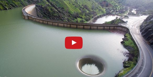 """See the World Famous Glory Hole Spillway at Lake Berryessa overflowing for the first time ever from the perspective of a drone. The Lake Berryessa News, with authorization from dam operators, shows you what you want to see! This video is all about the spillway!"""