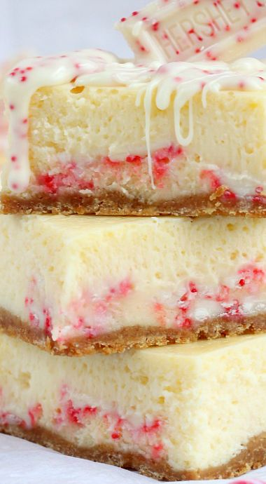 Candy Cane Chocolate Cheesecake Bars