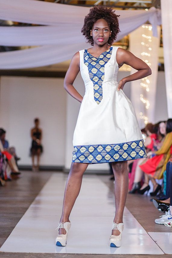 Wedding Party dress African print fit and flare by CokoDiamond