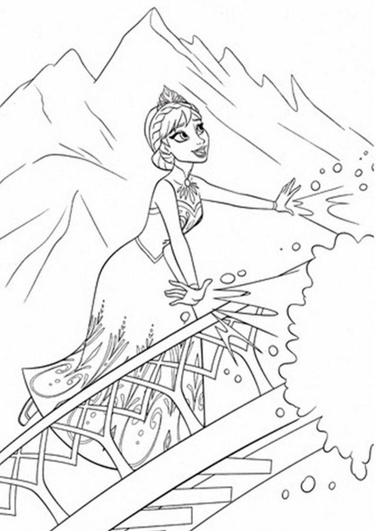 kolorowanka Kraina Lodu - obrazek z bajki dla dziewczyn nr 24
