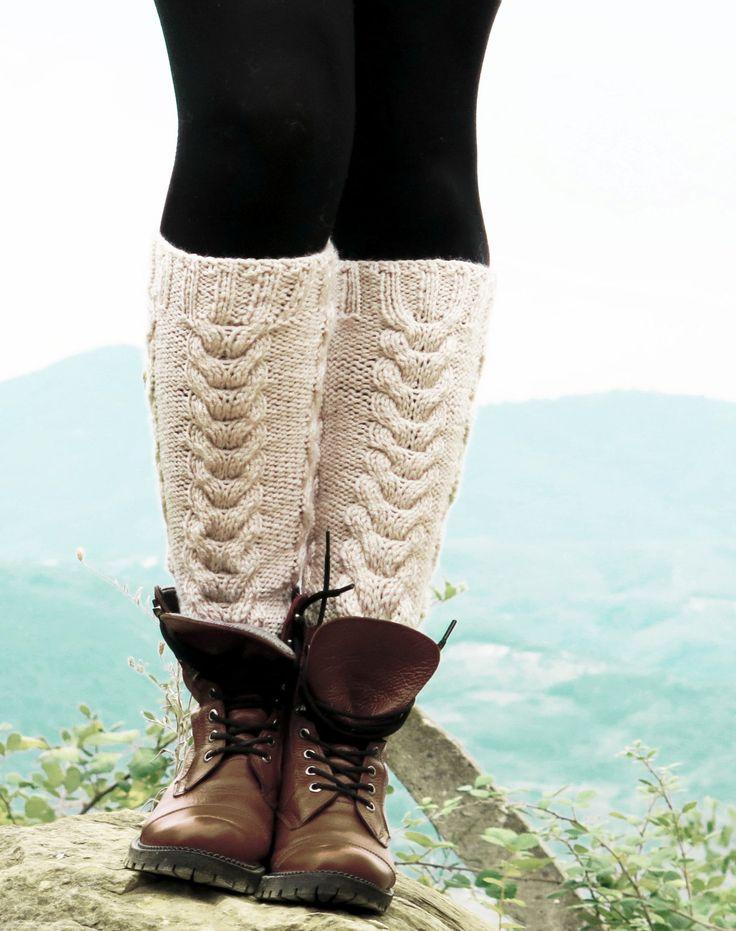 Vanilla Boot Cuffs - Knitted Boot Cuffs - Legwarmers - Half Sock - Women - Teen Girls - Cable Knit Leg Warmers - Boot Socks - Winter Socks by EmofoFashion on Etsy