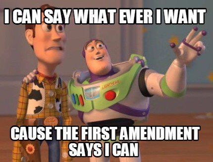 Image result for first amendment meme