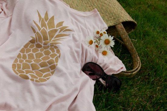 "Customisation ""T-shirt Ananas"" par @eliaure"