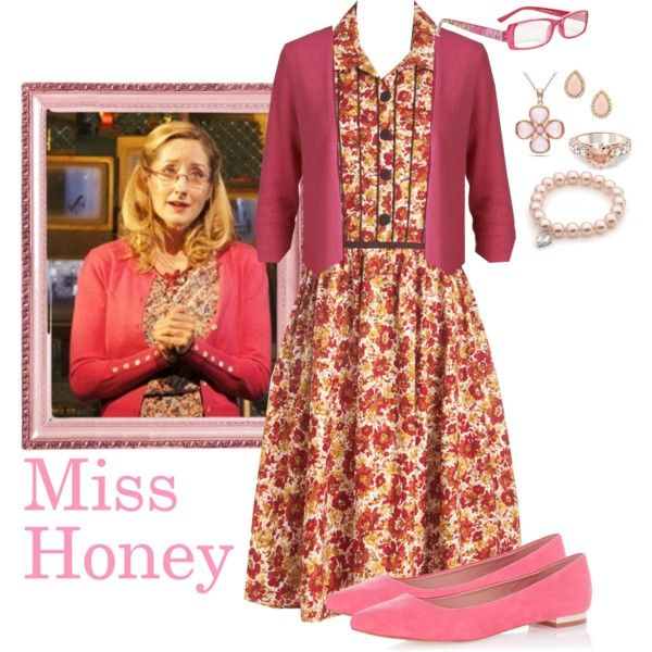 Miss Honey ~ Matilda the musical by holly-the-fangirl on Polyvore featuring polyvore, mode, style, ONLY, Oasis, Allurez, Kate Spade, Vera Bradley, fashion and clothing