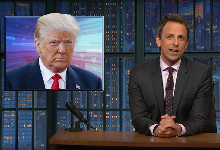Seth Meyers Bans Donald Trump from Late Night Seth Meyers is taking a stand. The Late Night host announced Tuesday night (June 14) that he is banning Donald Trump from his NBC talk show. On Monday, June 13, Trump revoked The Washington Post 's press credentials, after the paper reported that Trump had suggested President Obama sympathized with ... Read More Other Links From TVGuide.com Seth Meyers Late Night With Seth Meyers Donald Trump ..