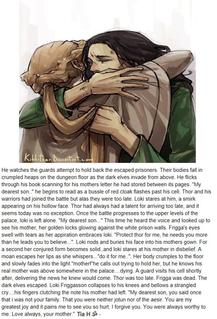 #LokiFeels ;___; This is heart wrenching-- Oh god the Loki Frigason part just