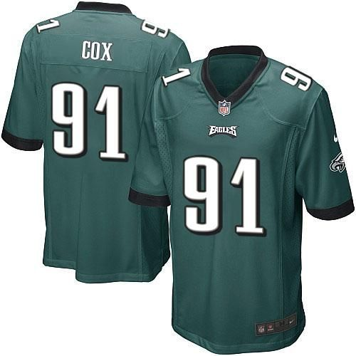 Nike NFL Philadelphia Eagles #91 Fletcher Cox Limited Youth Midnight Green Team Color Jersey Sale