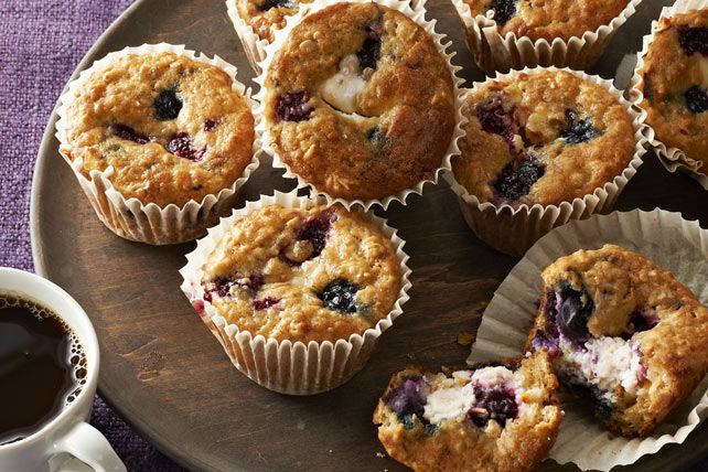 Muffins gâteau au fromage aux petits fruits sauvages