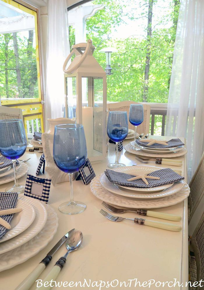 Obsessed With Beach Nautical Themed Tables Flatware Table
