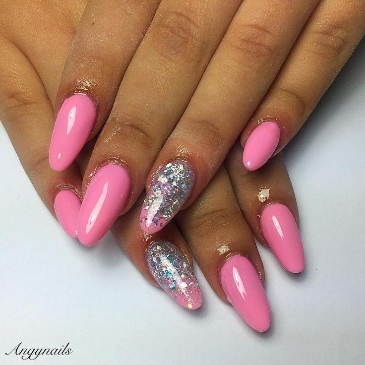 Barbie Girl! #barbie #barbienails #nails #nail #fashion #style #almondnails #cute #beauty #beautiful #pretty #girl #girls #stylish #sparkles #styles #glitter #nailart #art #opi #photooftheday #pinknails #unhas #ongles #onglesengel #shiny #ricostruzioneunghie #nailpolish #nailswag #nailporn