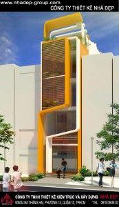 Thiết kế nhà phố 3 tầng đẹp 4X16 đẹp 2