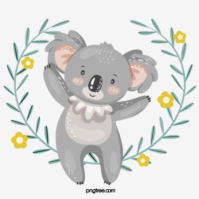 Hand Drawn Fresh And Cute Koala Elements Koala Clipart Animal Koala Png Transparent Clipart Image And Psd File For Free Download Cute Animal Illustration Koala Cartoon Clip Art