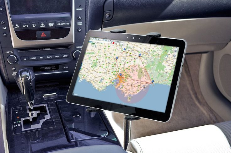 Tablet Mount / The Tab-FSM allows you to use your Samsung Galaxy Tab and the iPad in your car and is ideal for navigation. http://thegadgetflow.com/portfolio/ipad-mount/