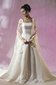 Love the medieval wedding dress sleeves.  This is my favorite!