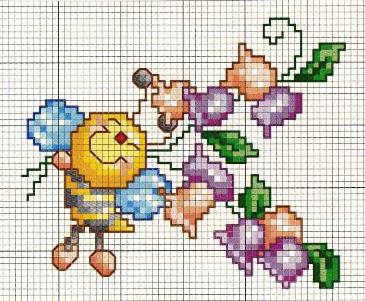 Schema punto croce Apina-felice