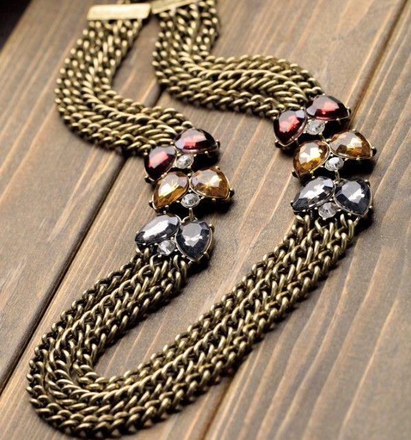 Bronze Multi Layer Necklace