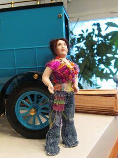 Doll by Taru Astikainen, styling by Hanna & Leijona: Tunisialaista virkkausta - Tunisian crochet