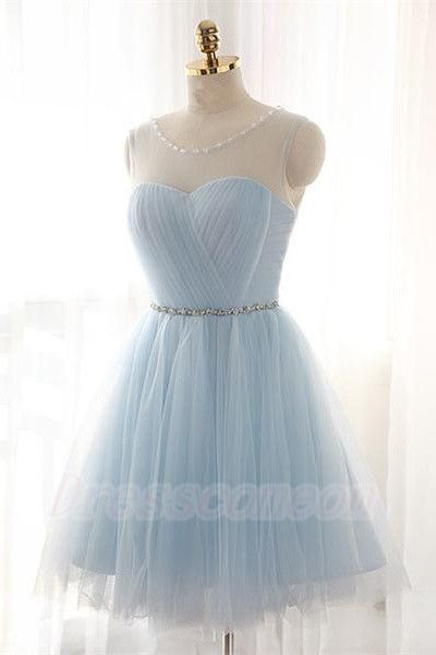 Simple Baby Blue Short Tulle Homecoming Dresses,Cheap Homecoming Dress,Elegant Cocktail Dresses,Charming Graduation Dresses  http://www.luulla.com/product/587967/simple-baby-blue-short-tulle-homecoming-dresses-cheap-homecoming-dress-elegant-cocktail-dresses-char