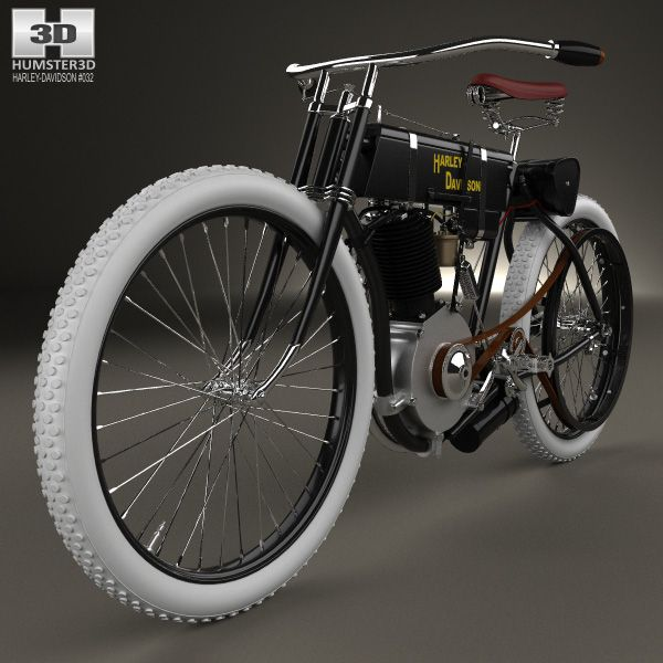 Harley-Davidson model 1 1903 3d model from humster3d.com. Price: $75