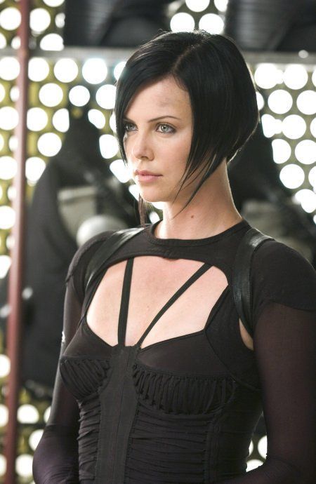Pictures & Photos from Æon Flux (2005)  Razored hair cut. Striking colour.