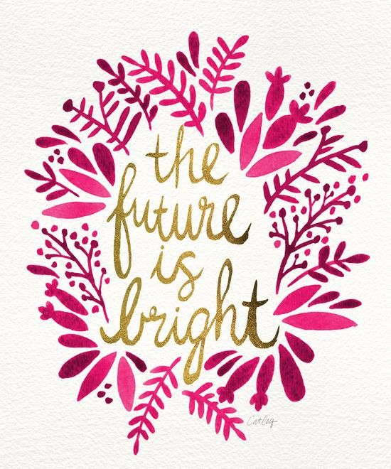 The future is bright inspirational quote word art print motivational poster black white motivationmonday minimalist shabby chic fashion inspo typographic wall decor