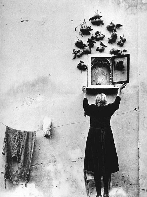 Adoration, Intercession.  (Enzo Sellerio, A Photographer In Sicily)